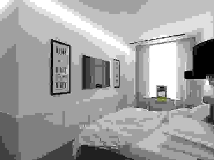 Дизайн спальни в стиле лофт Спальня в стиле лофт от Студия дизайна интерьера Руслана и Марии Грин Лофт