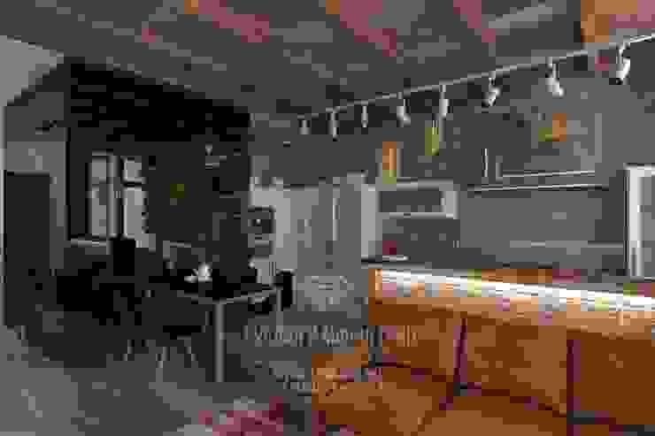 Дизайн кухни столовой в стиле лофт Кухня в стиле лофт от Студия дизайна интерьера Руслана и Марии Грин Лофт