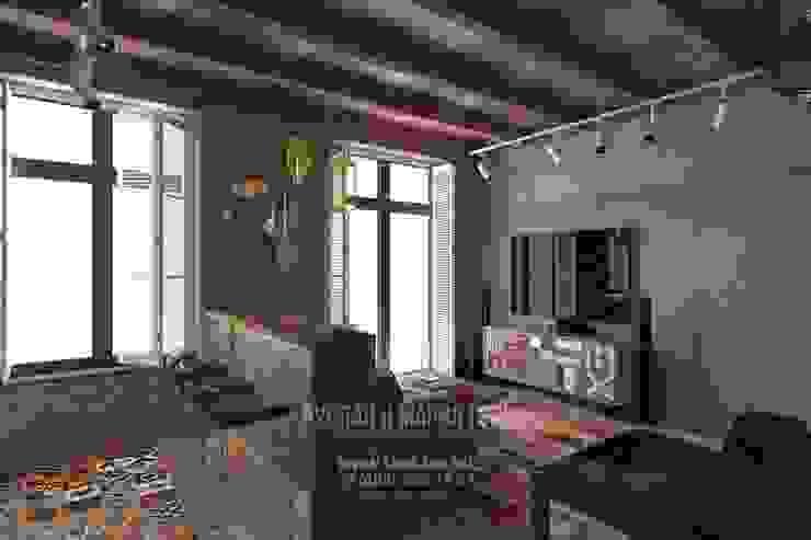 Дизайн гостиной в стиле лофт Гостиная в стиле лофт от Студия дизайна интерьера Руслана и Марии Грин Лофт