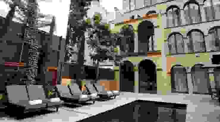 Exterior Hoteles de estilo moderno de Gramil Interiorismo II - Decoradores y diseñadores de interiores Moderno