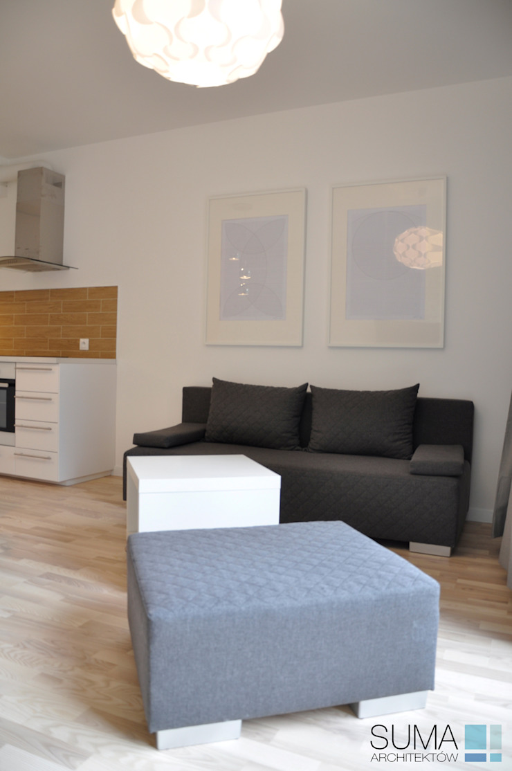 Modern Living Room by SUMA Architektów Modern