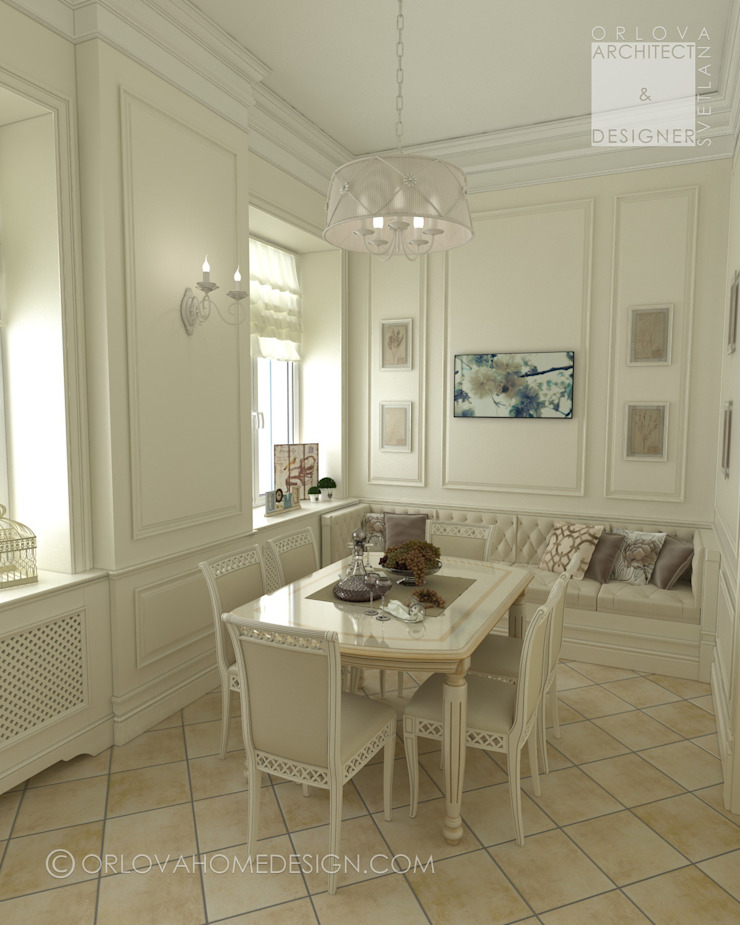 Classic style dining room by Orlova Home Design Classic