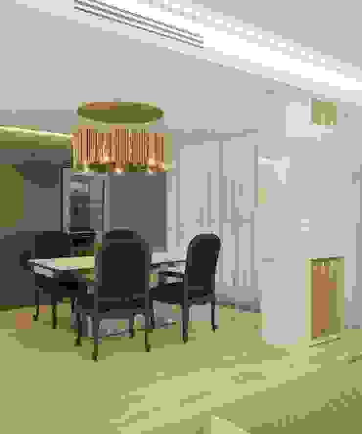 Двухуровневая квартира в жк Антаресе (Екатеринбург) Гостиные в эклектичном стиле от E_interior Эклектичный