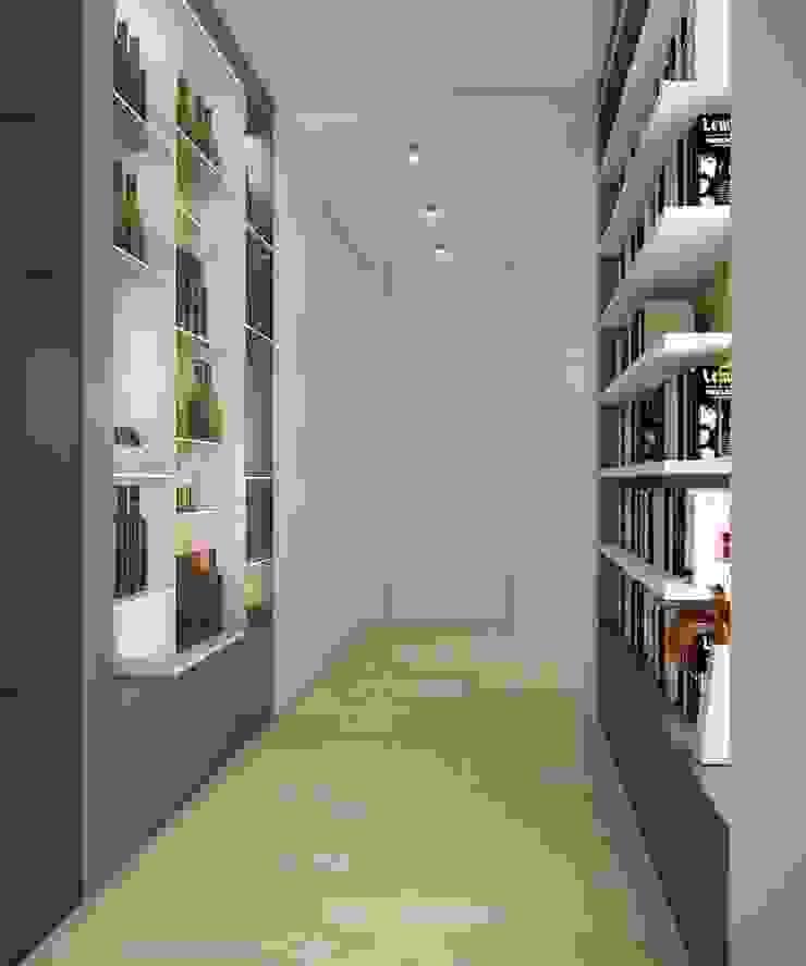 Двухуровневая квартира в жк Антаресе (Екатеринбург) Коридор, прихожая и лестница в стиле минимализм от E_interior Минимализм