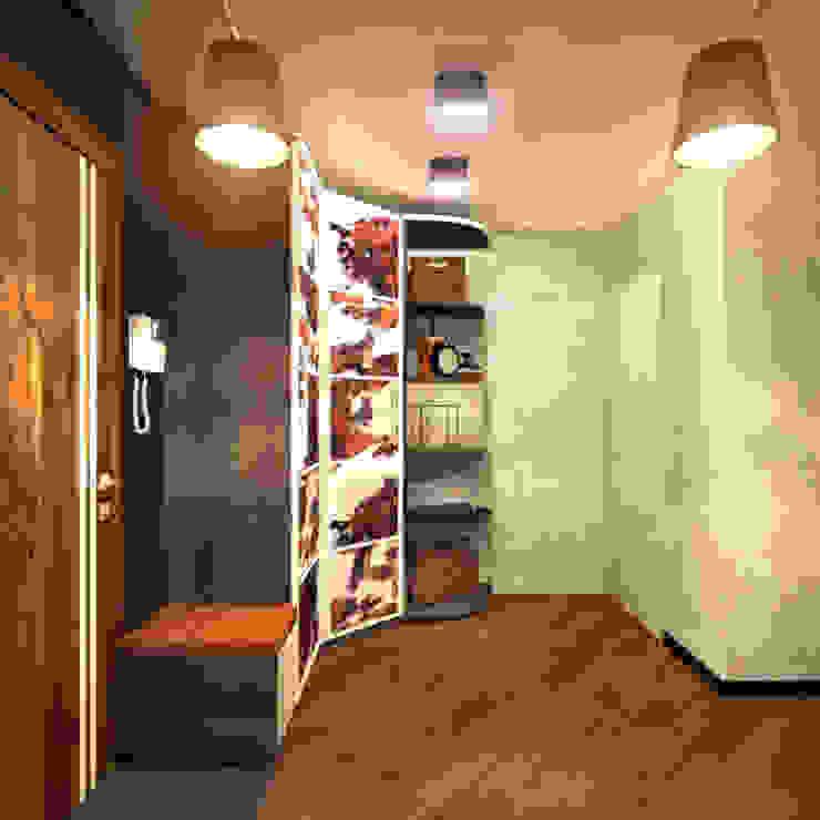 Прихожая 2 Коридор, прихожая и лестница в скандинавском стиле от Inna Katyrina & 'A-LITTLE-GREEN' studio interiors Скандинавский