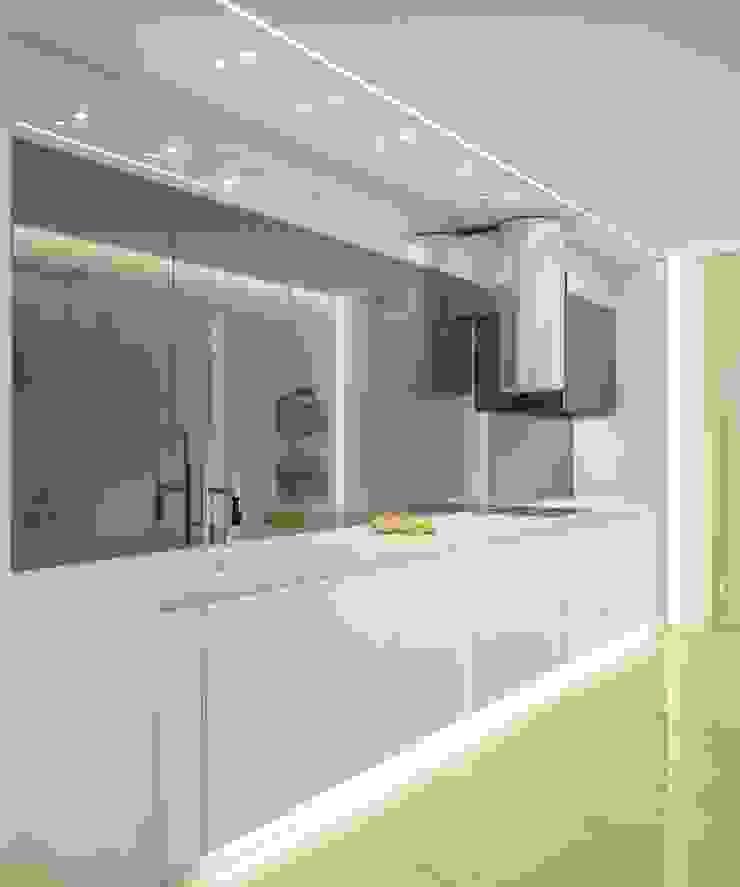 Двухуровневая квартира в жк Антаресе (Екатеринбург) Кухня в стиле минимализм от E_interior Минимализм