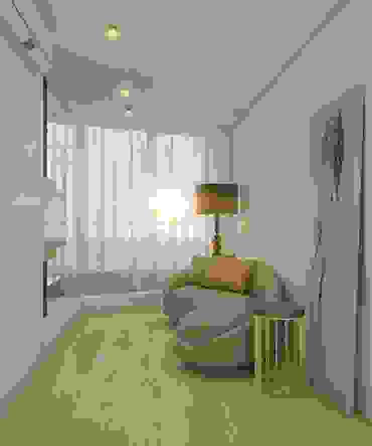 Двухуровневая квартира в жк Антаресе (Екатеринбург) Коридор, прихожая и лестница в эклектичном стиле от E_interior Эклектичный