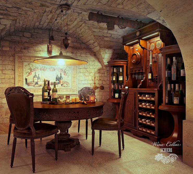 Mediterranean style wine cellar by Sweet Home Design Mediterranean