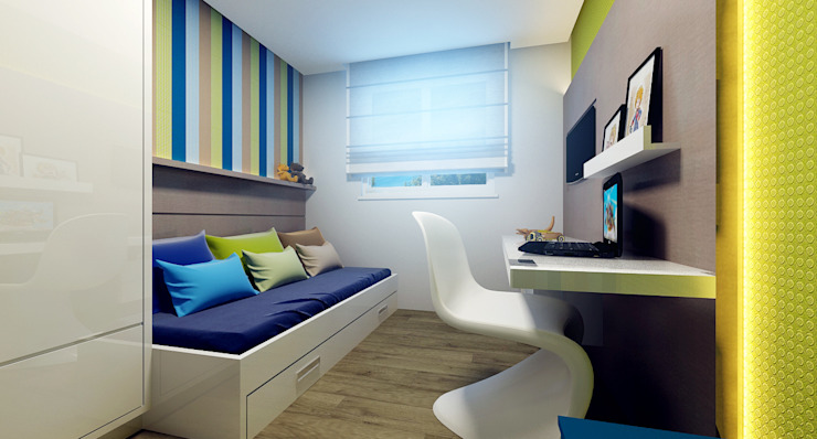 Habitaciones infantiles de estilo  por Eliegi Ambrosi Arquitetura e Design de Interiores