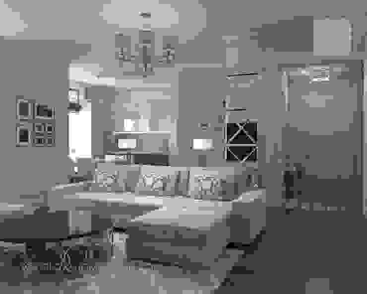 Квартира в Москве Гостиные в эклектичном стиле от Orlova Home Design Эклектичный
