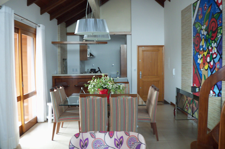 Cobertura Zona Norte Salas multimídia modernas por Elaine Medeiros Borges design de interiores Moderno