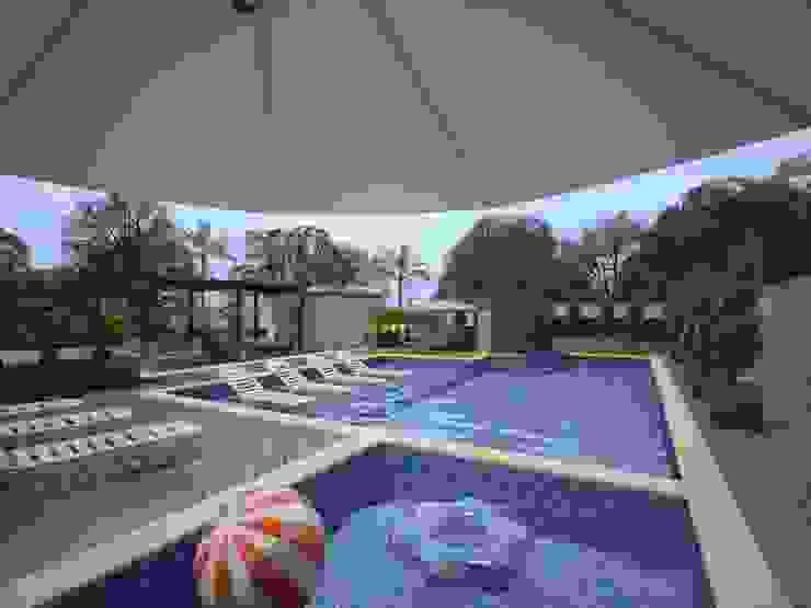 Área de Lazer para um Condomínio Residencial Eliegi Ambrosi Arquitetura e Design de Interiores Piscinas modernas