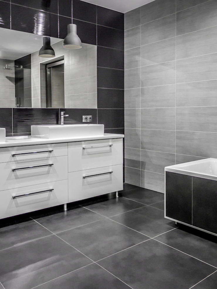 Baños de estilo moderno de Sałata-Pracownia Architektury Wnętrz Moderno
