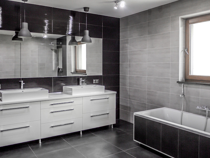 Salle de bain moderne par Sałata-Pracownia Architektury Wnętrz Moderne