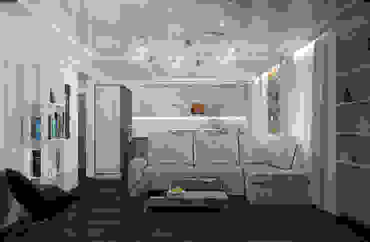 Двухкомнатная квартира для холостяка Гостиные в эклектичном стиле от Center of interior design Эклектичный
