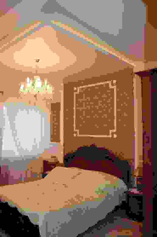 Dom klasyczny Kolonialna sypialnia od 1Architekt Magdalena Mirek-Roszkowska Kolonialny