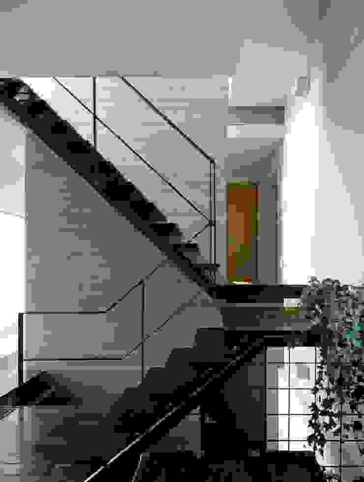 久保田正一建築研究所 Pasillos, vestíbulos y escaleras de estilo moderno