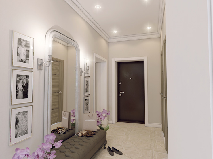 Classic style corridor, hallway and stairs by Volkovs studio Classic