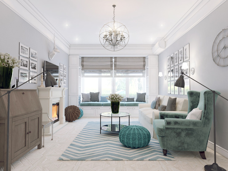 Classic style living room by Volkovs studio Classic