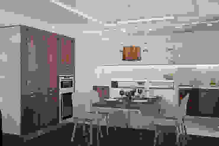 Двухкомнатная квартира для холостяка Кухни в эклектичном стиле от Center of interior design Эклектичный