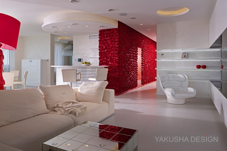 Fashion apartment Гостиная в стиле минимализм от Yakusha Design Минимализм