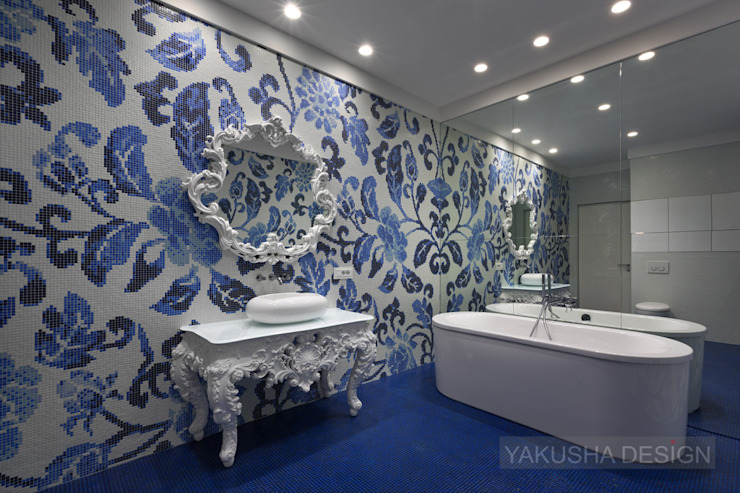 Fashion apartment Ванная комната в эклектичном стиле от Yakusha Design Эклектичный