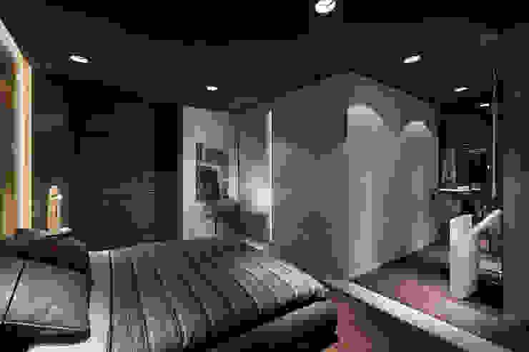 Квартира для Космополита Спальня в стиле минимализм от INCUBE Алексея Щербачёва Минимализм