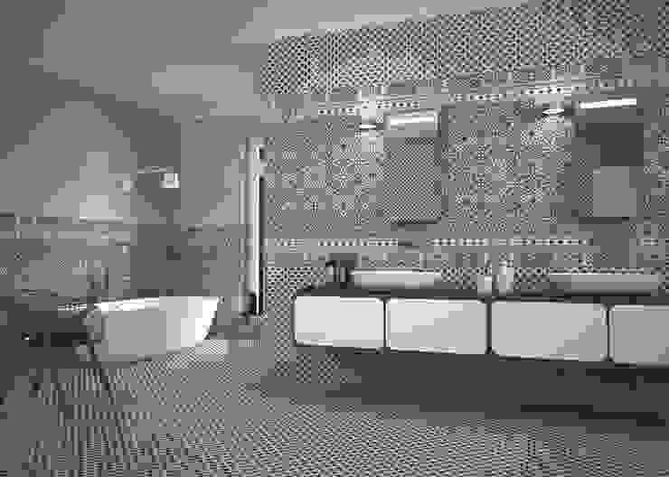 The Baked Tile Company 의  욕실, 모던