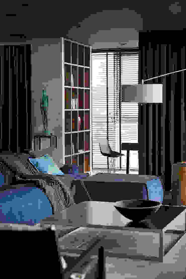 Квартира для Космополита Гостиная в стиле минимализм от INCUBE Алексея Щербачёва Минимализм