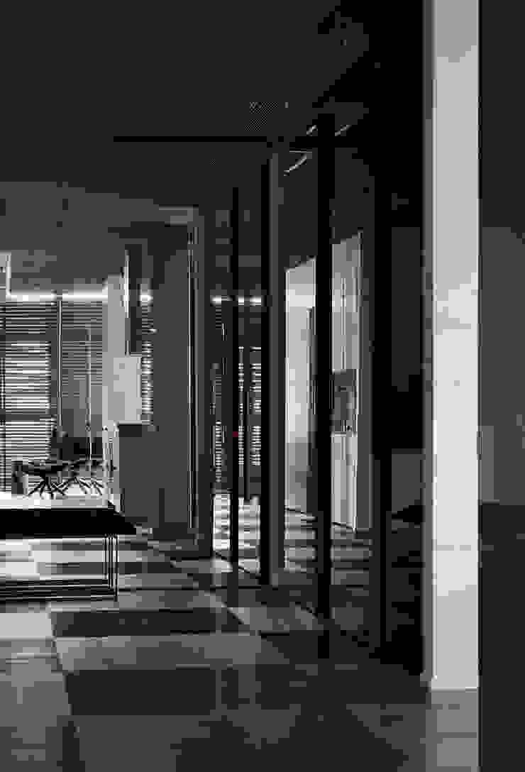 Квартира для Космополита Коридор, прихожая и лестница в стиле минимализм от INCUBE Алексея Щербачёва Минимализм