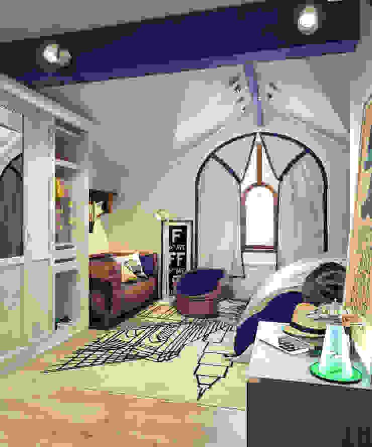 Детская комната на мансардном этаже Детская комнатa в стиле минимализм от Sweet Home Design Минимализм