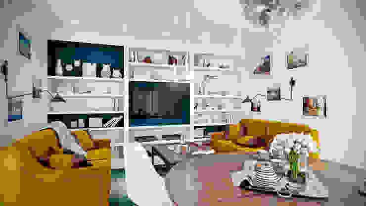 Skandynawski salon od CO:interior Skandynawski