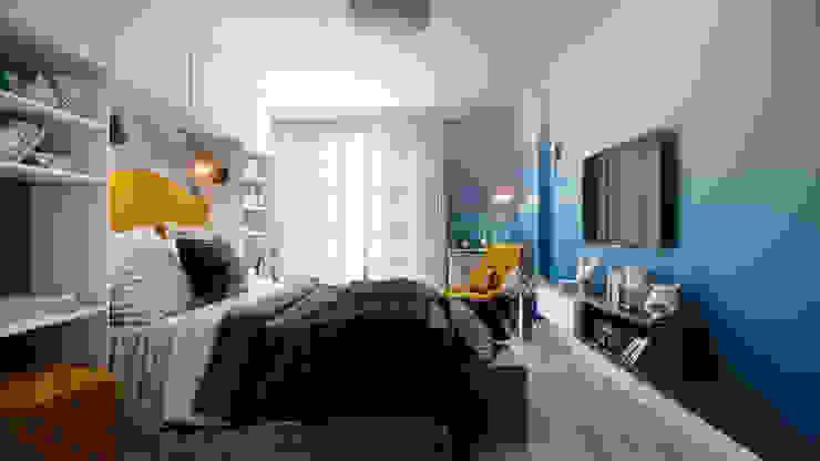 Dormitorios de estilo ecléctico de CO:interior Ecléctico