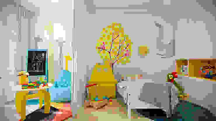 Скандинавская эклектика: Детские комнаты в . Автор – CO:interior, Скандинавский