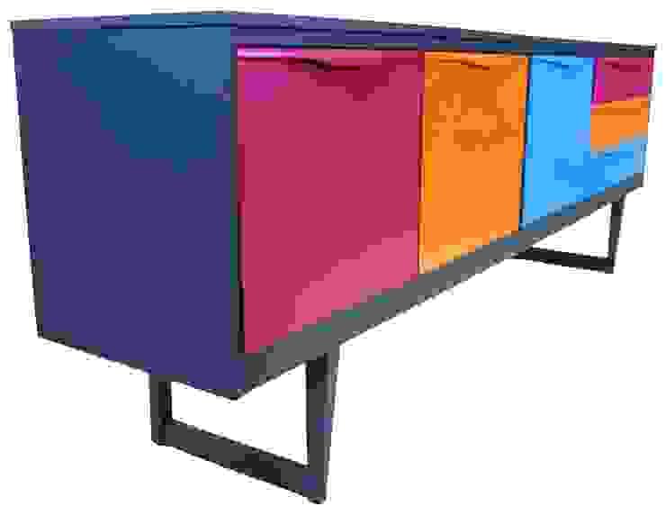 Multi Coloured Sideboard di homify Minimalista