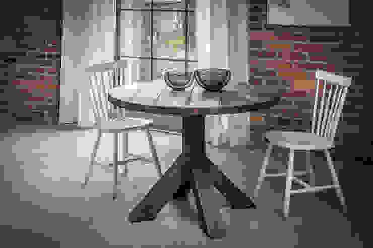 Okrągły stół industrialny od Kornik Industrialny