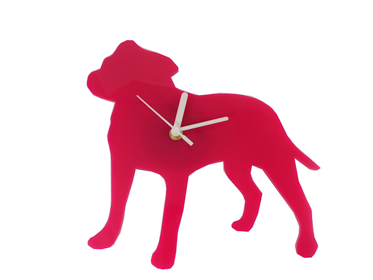 Cute Custom Staffy Clock BooBoo and Ted HouseholdAccessories & decoration