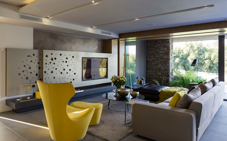 House in Blair Atholl Nico Van Der Meulen Architects Living room