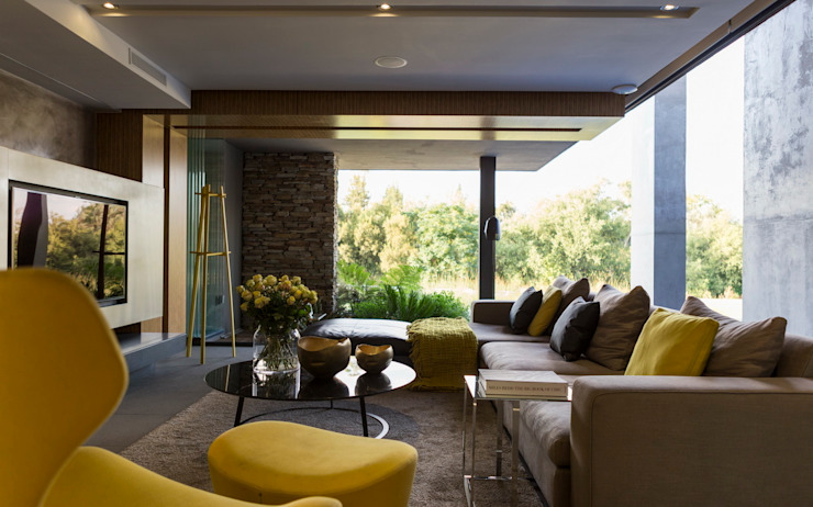 House in Blair Atholl Salon moderne par Nico Van Der Meulen Architects Moderne