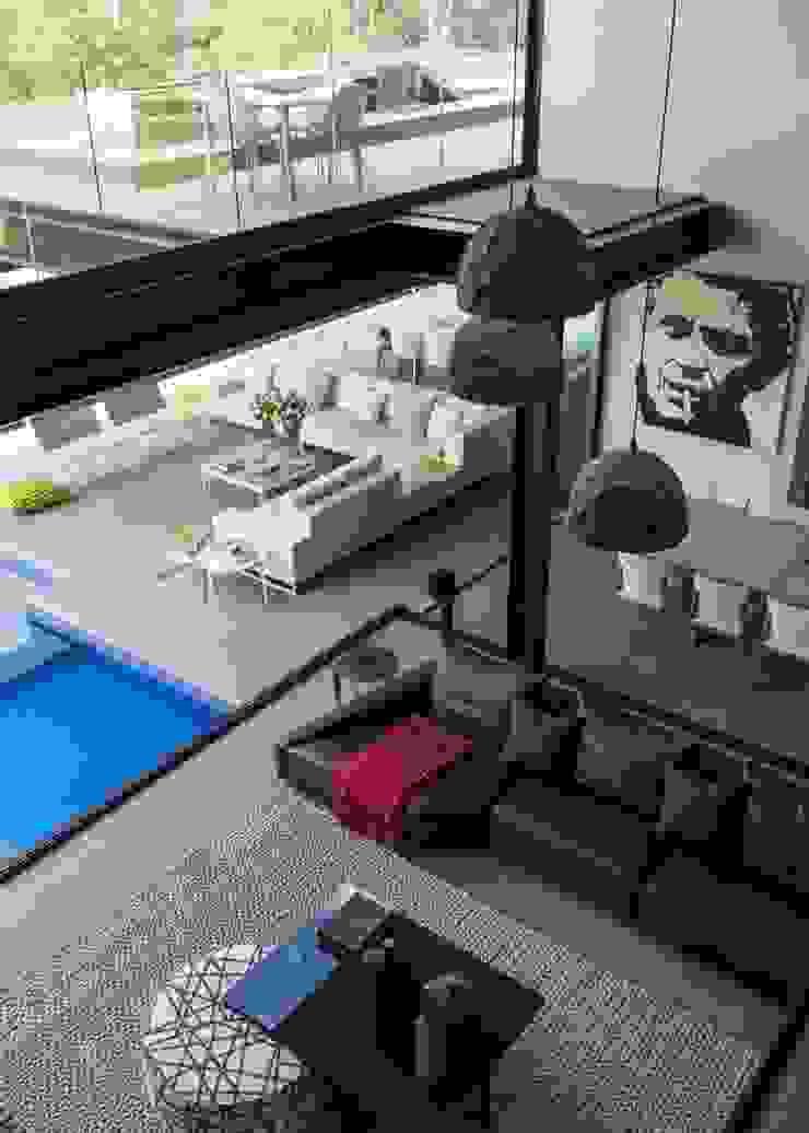 House in Blair Atholl Nico Van Der Meulen Architects Moderne Wohnzimmer