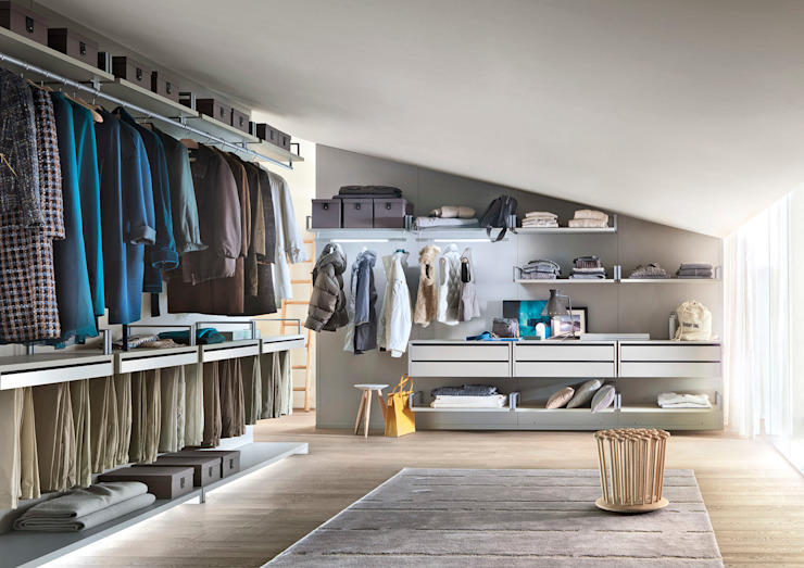 Novenove Walk In Wardrobe by LEMA Campbell Watson Dressing roomWardrobes & drawers