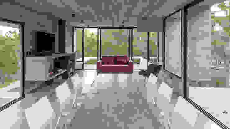 Dining room by Besonías Almeida arquitectos, Modern