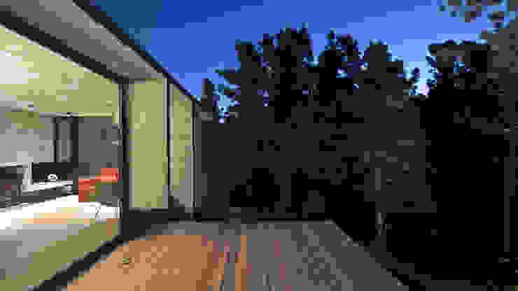 CASA WEIN Balcones y terrazas modernos: Ideas, imágenes y decoración de Besonías Almeida arquitectos Moderno
