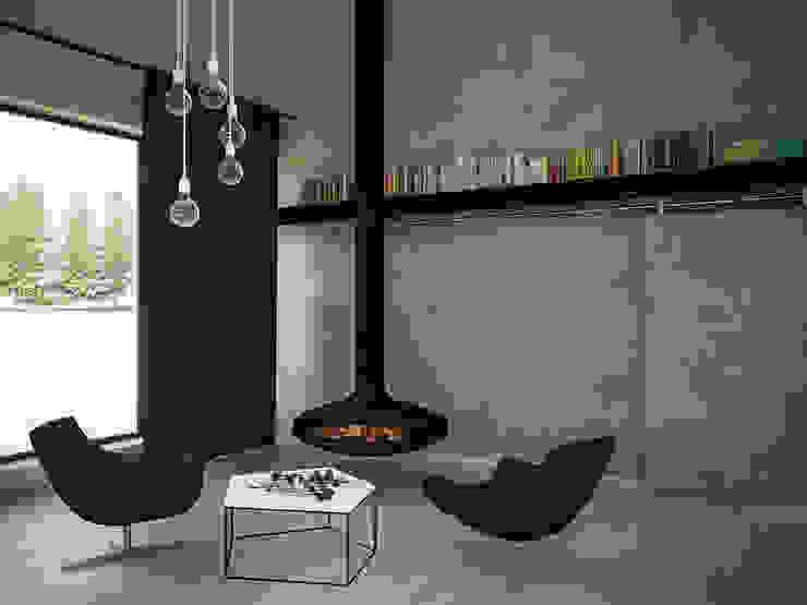 Minimalistische woonkamers van 3XEL Biuro projektowe Minimalistisch