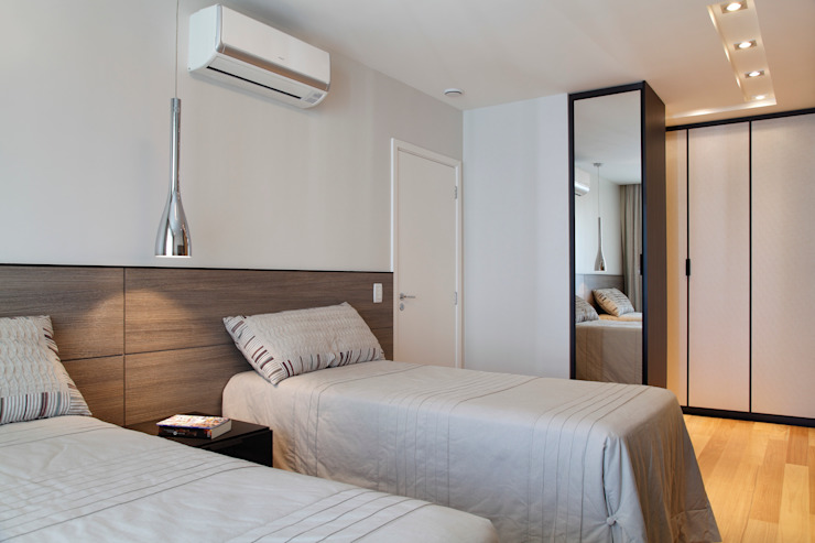 Apartamento na Barra da Tijuca Quartos modernos por Ana Adriano Design de Interiores Moderno