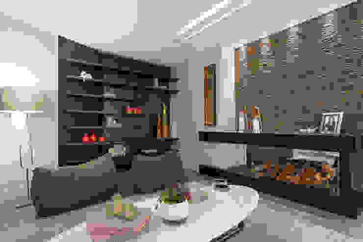 Гостиная в . Автор – Adriane Cesa Arquitetura, Модерн