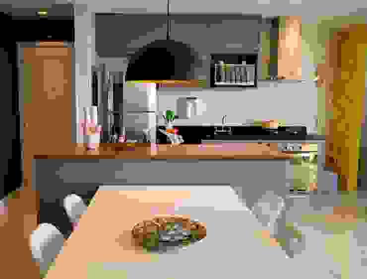 Apartamento Tamboré Cozinhas modernas por Le Haus - Arquitetura +Design Moderno