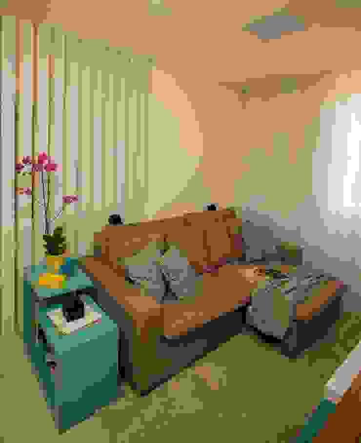 Apartamento Tamboré Salas de estar modernas por Le Haus - Arquitetura +Design Moderno