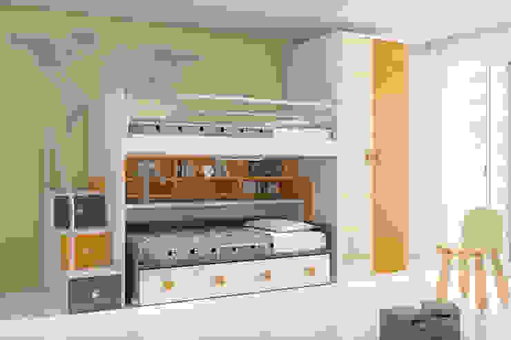 Dormitorio juvenil. de Muebles San Francisco Madrid Moderno