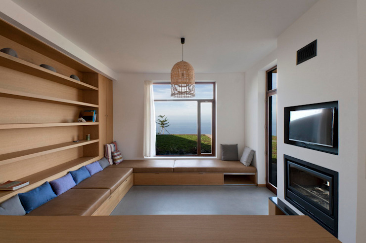 Turismo rural Casas da Vereda Salas de estar modernas por Mayer & Selders Arquitectura Moderno